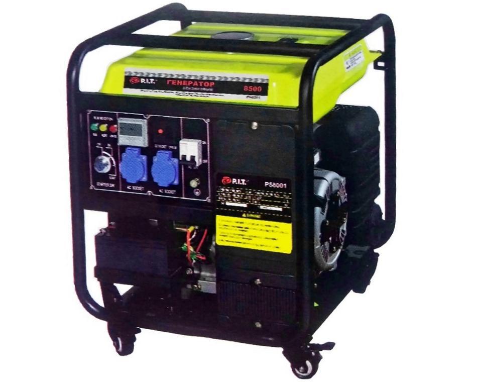 """58001В - """"P.I.T."""" Бензиновый генератор 8,0 kW (инверторная плата)"""