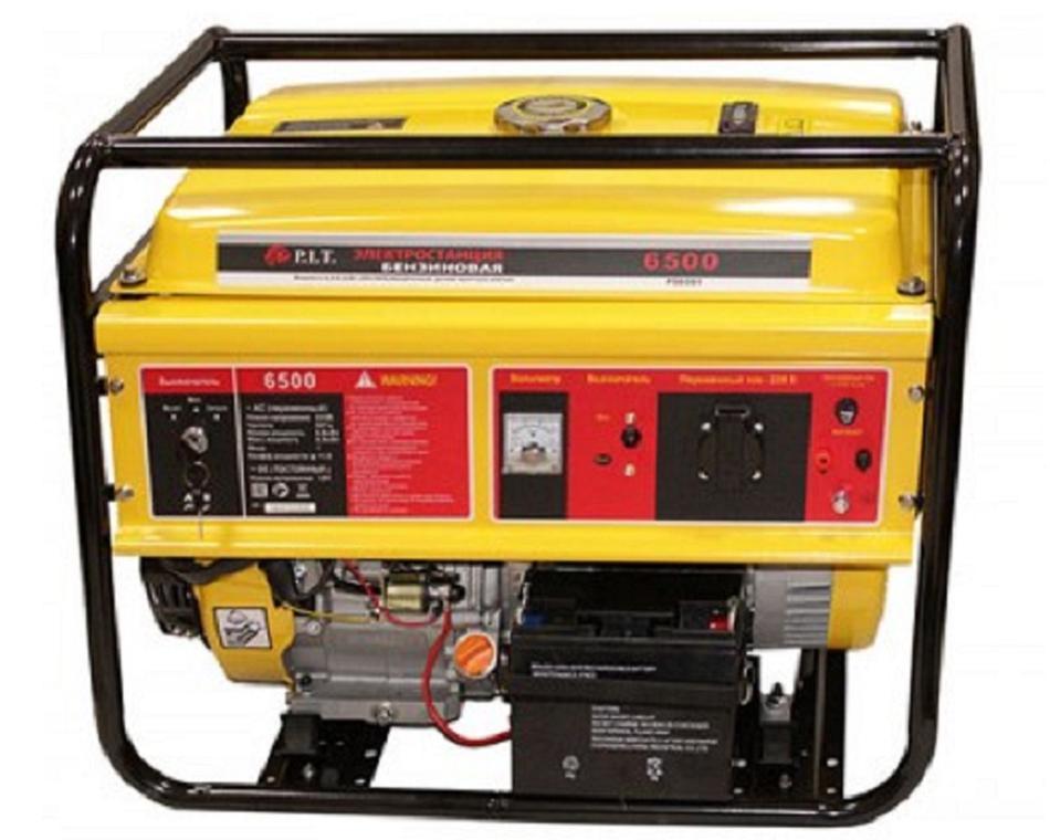 """56501 - """"P.I.T."""" Бензиновый генератор 6,5 kW 220v"""