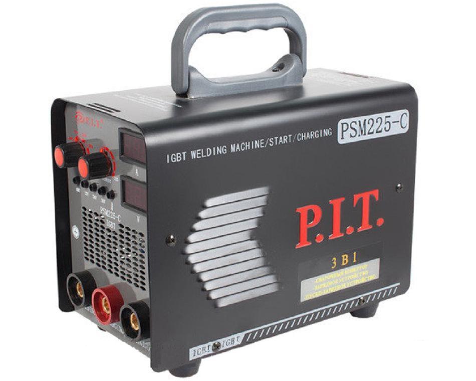 """PSM225-C - """"P.I.T.""""   Инверторная Сварка 3в1 225 A  (+зарядка)"""